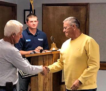 Image of Member receiving an Award
