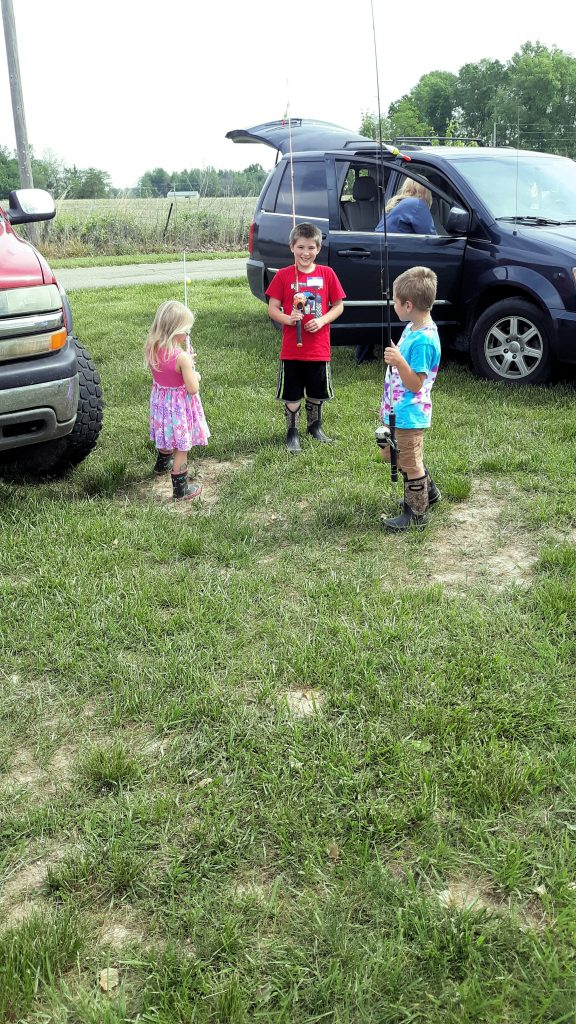 3 Children at the Youth Fishing Tournament