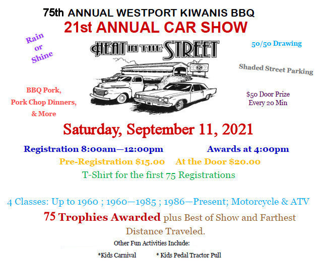 2021 Car Show flyer in color